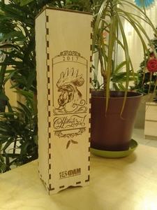 Коробка для алкоголя из фанеры